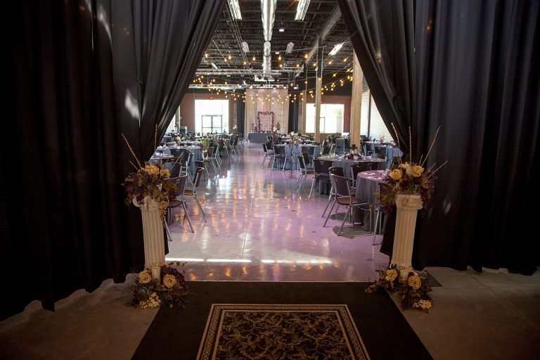 Black Pipe and Drape For Your Event At The Old Glass Place Event Venue in Downtown Springfield, MO