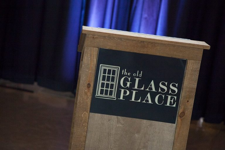 Rental Items at The Old Glass Place. This wood podium is perfect for your Corporate Event, Company Party, Celebration, Company Meeting or any special event!