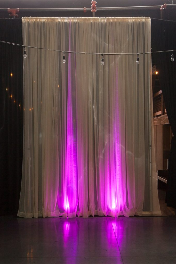 Champagne Pipe and Drape at The Old Glass Place