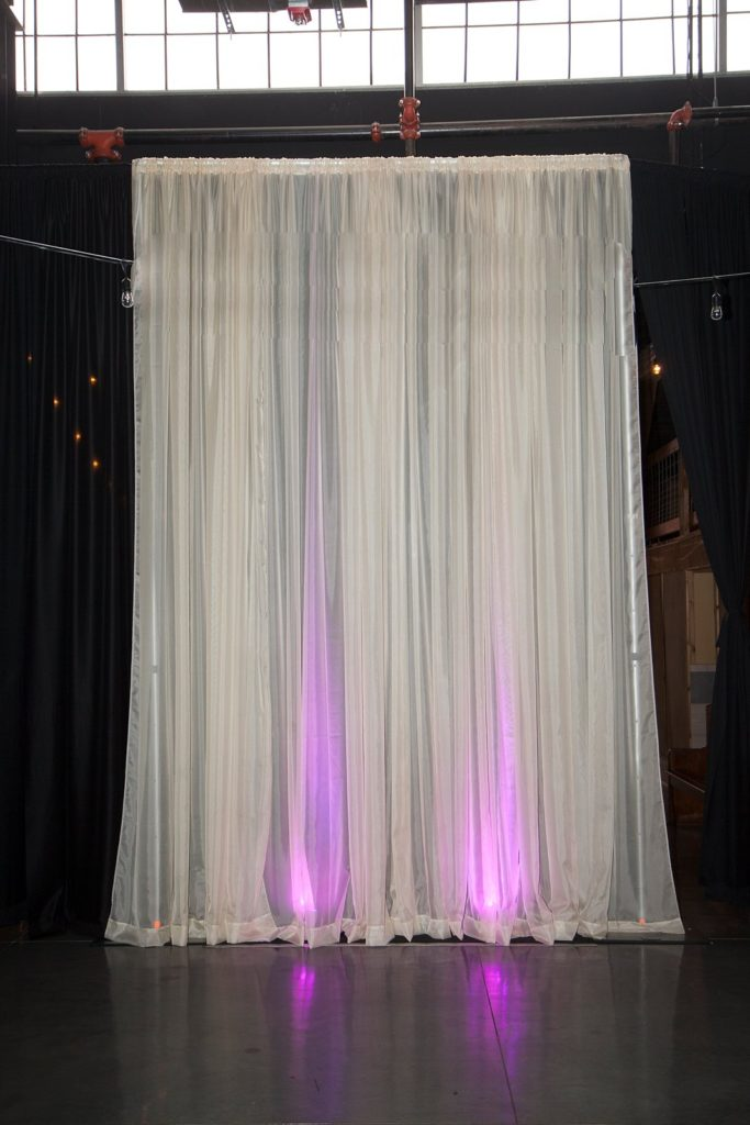 Venue Old Glass Place in Springfield Missouri Champagne Pipe and Drape