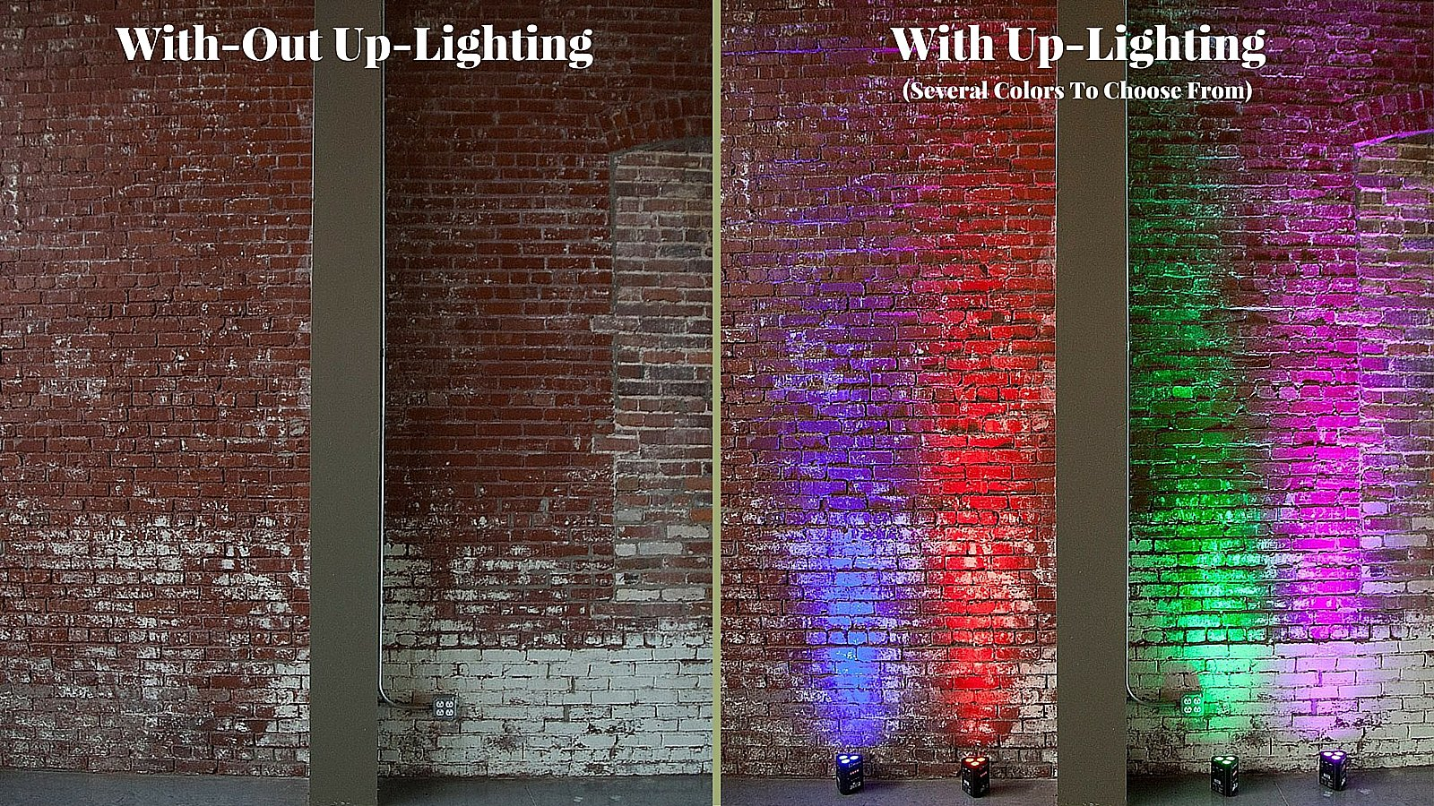 Up-Lighting at The Old Glass Place